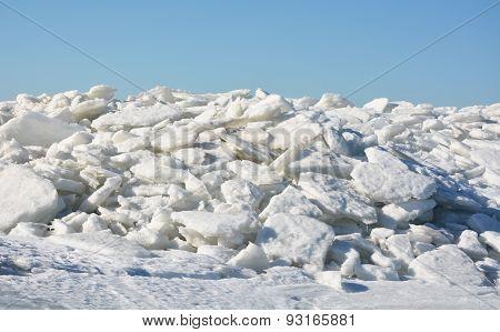 Polar Landscape- Ice On The Frozen Sea