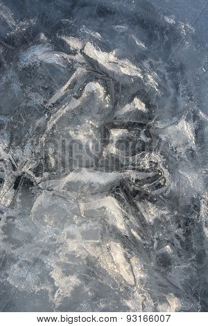 Ice Pattern Closeup. Picture Can Be Used As A Background