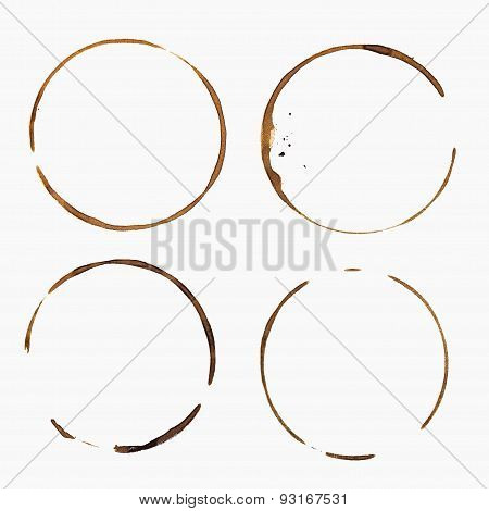 Coffee Stain, Isolated On White Background