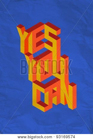 Isometric Yes You Can Quote Background