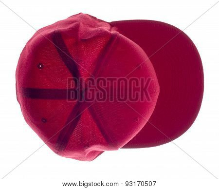 red headgear isolated on white