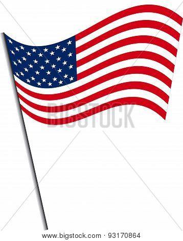 Isolated USA Flag