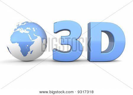 Global 3D - Metallic Blue