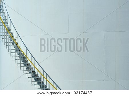 Stairs on Petroleum storage tank