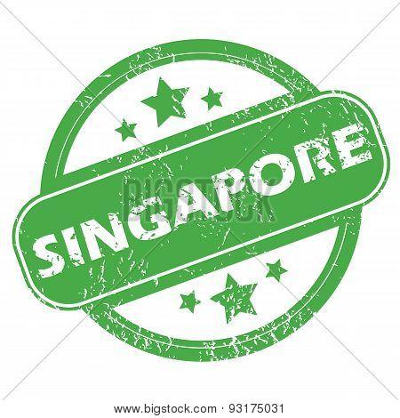 Singapore green stamp