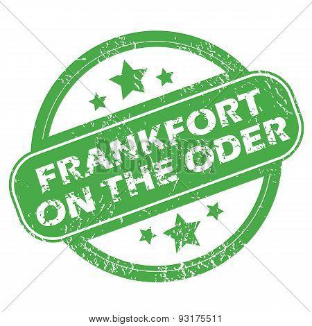 Frankfort on Oder green stamp