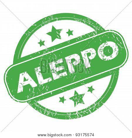 Aleppo green stamp