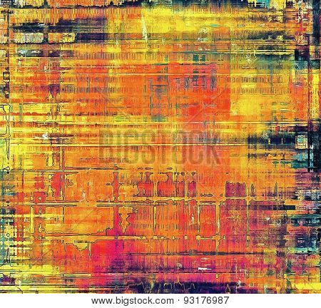 Grunge old texture as abstract background. With different color patterns: yellow (beige); blue; purple (violet); red (orange)