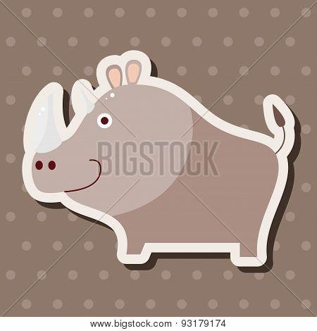 Animal Rhino Cartoon Theme Elements
