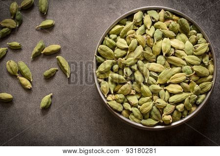 Spice - Green Cardamom in a container