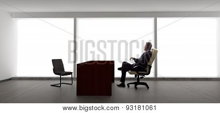 Businessman with Empty Chair