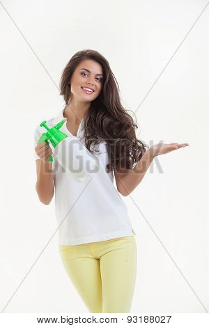 Young Woman With A Sprayer