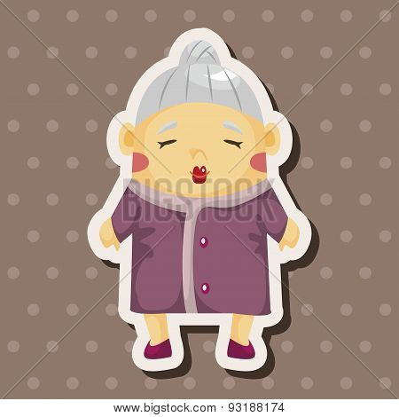 Family Grandmother Character Theme Elements