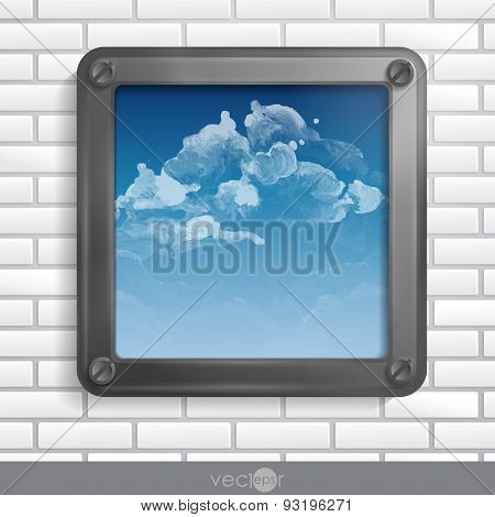 Metallic Frame With Screws