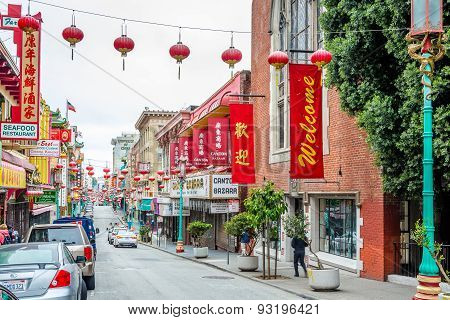 In The Streests Of China Town In San Francisco