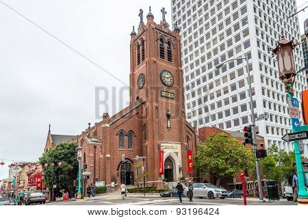 Tao Church In China Town Of San Francisco