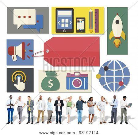 Internet Digital Social Network Media Community Concept