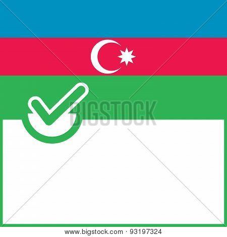 Voting Symbol Azerbaijan Flag