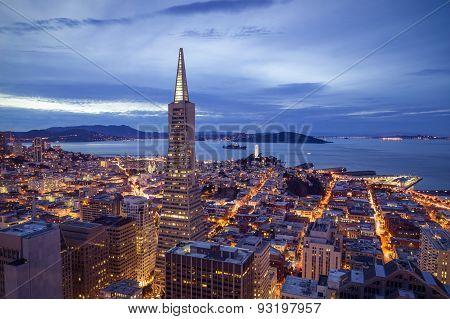 San Francisco Skyline Aerial View