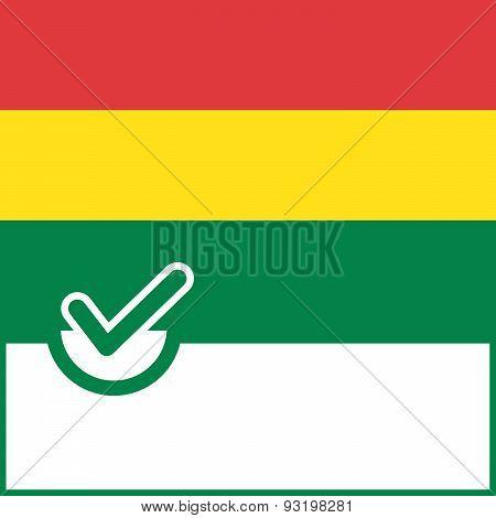 Voting Symbol Bolivia Flag