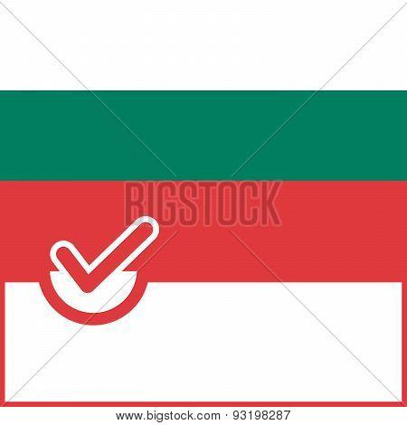 Voting Symbol Bulgaria Flag