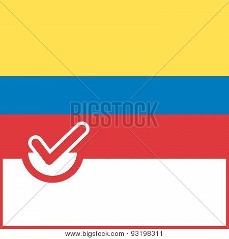 Voting Symbol Colombia Flag