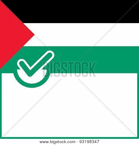 Voting Symbol Palestine Flag