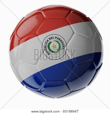Soccer Ball. Flag Of Paraguay