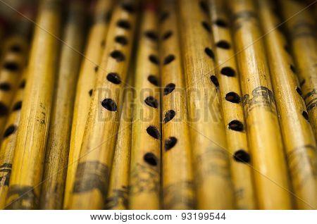 Indian wooden flutes