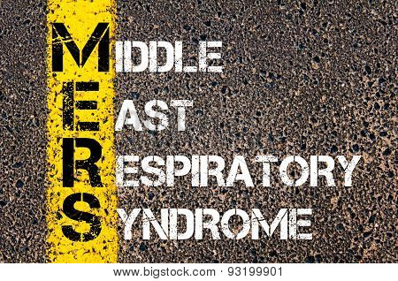 Medical Acronym Mers As Middle East Respiratory Syndrome