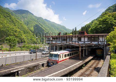 Tateyama - May 10: Tateyama Station In Toyama City Is Interchange Tram Or Tramcar To The Japan Alps
