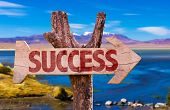 picture of prosperity sign  - Success direction sign with landscape background - JPG