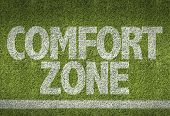 foto of comfort  - Soccer field with the text - JPG