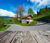picture of chalet  - Swiss chalet near Reichenbach in Switzerland - JPG