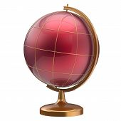 picture of geography  - Red globe blank planet Mars global geography school studying world cartography symbol icon - JPG