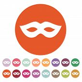 pic of masquerade  - The festive mask icon - JPG