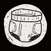 stock photo of diaper  - Diaper Doodle - JPG
