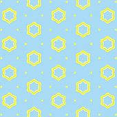 pic of hexagon pattern  - Vector illustration of seamless yellow geometric pattern - JPG
