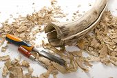 stock photo of hollow log  - Didgeridoo Making - JPG