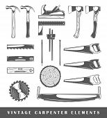 picture of carpenter  - Vintage carpenter elements - JPG