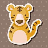 foto of chinese zodiac  - Chinese Zodiac Tiger Theme Elements - JPG
