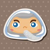 stock photo of spaceman  - Spaceman Theme Elements - JPG