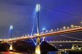 pic of hong kong bridge  - Ting Kau bridge at night - JPG