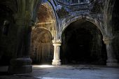 stock photo of armenia  - Architecture shot with the ancient orthodox Haghpat monastery in Armenia - JPG