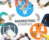 picture of strategy  - Marketing Strategy Branding Commercial Advertisement Plan Concept - JPG