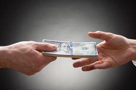 foto of two dollar bill  - Close - JPG