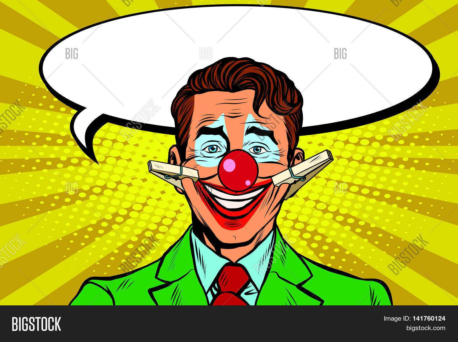 clown face smile on clothespins vector u0026 photo bigstock