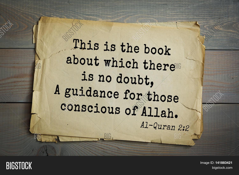 Quotes Quran Islamic Quran Quotes.this Book Image & Photo  Bigstock