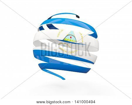 Flag Of Nicaragua, Round Icon