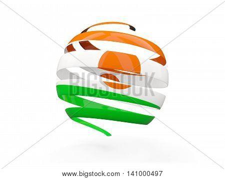 Flag Of Niger, Round Icon